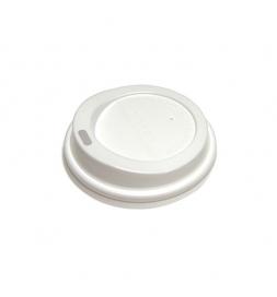 Крышка для одноразовых стаканов Lavazza без носика на 100мл белая, 100шт/уп