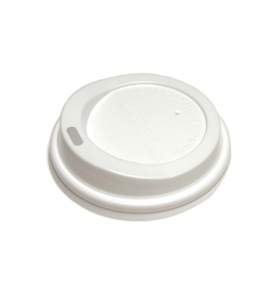 Крышка для одноразовых стаканов Lavazza без носика на 270мл белая, 100шт/уп